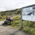 Barnafoss information kiosk.- Hraunfossar and Barnafoss