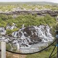 A popular spot for photographers.- Hraunfossar and Barnafoss
