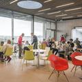 The café inside the Fontana.- Laugarvatn Fontana