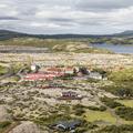 Háskólinn á Bifröst to the southwest.- Grábrókargígar Natural Monument