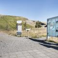 The trailhead and information board.- Litlanesfoss and Hengifoss
