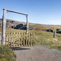 Go through the gate and close it.- Litlanesfoss and Hengifoss