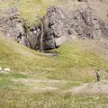 Making friends along the way.- Litlanesfoss and Hengifoss