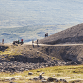 More hikers making their way to Hengifoss.- Litlanesfoss and Hengifoss