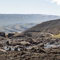 The path cut into the hillside.- Litlanesfoss and Hengifoss