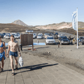 Bathers coming to the baths.- Mývatn Nature Baths