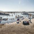 Plenty of space to sunbathe.- Mývatn Nature Baths