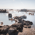 Looking west across the lagoon.- Mývatn Nature Baths