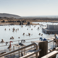 Many people enjoy the lagoon every day.- Mývatn Nature Baths