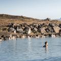 The eastern pool area.- Mývatn Nature Baths