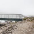 Cross the bridge over the small gorge.- Neðri-Stafur and Seyðisfjörður