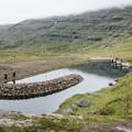 Water collecting behind a dam.- Neðri-Stafur and Seyðisfjörður