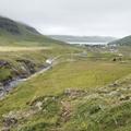 Looking down into Seyðisfjörður.- Neðri-Stafur and Seyðisfjörður
