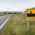 Entering the town of Seyðisfjörður.- Neðri-Stafur and Seyðisfjörður