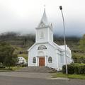 The Blue Church in Seyðisfjörður.- Neðri-Stafur and Seyðisfjörður