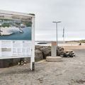 An information sign at the entrance.- Nauthólsvík Geothermal Beach