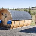 The Framtíð Camping Barrels.- Djúpivogur Campground