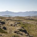 Mountains to the south.- Djúpivogur Campground