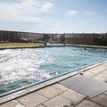 Looking across the pool.- Lýsuhólslaug Geothermal Pool