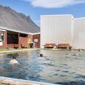 Swimmers enjoying the warm pool.- Lýsuhólslaug Geothermal Pool
