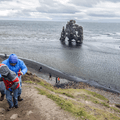 A series of unofficial trails down to the beach.- Hvítserkur Rock Formation