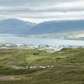 Akureyri to the north.- Súlur
