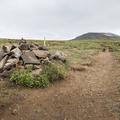 A large cairn along the way.- Súlur