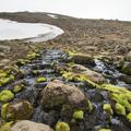 Fresh water streams from glacier runoff.- Súlur