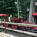 Kids on the Turtleback Zoo train tour- always keen for a wave!- South Mountain Recreation Complex Waterfront