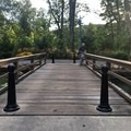 The second bridge is a popular fishing spot.- South Mountain Recreation Complex Waterfront