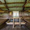 The cozy, central table.- Glen Ellen Hut