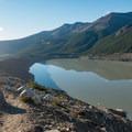Looking back over the moraine ridge.- Mirador Maestri + Laguna Torre