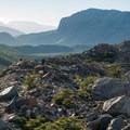 The boulder field can be tricky to navigate.- Mirador Maestri + Laguna Torre
