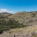 Interesting arid terrain.- Mirador Maestri + Laguna Torre