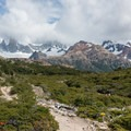 Trail opens up nearing Poincenot.- Laguna de los Tres + Laguna Torre Circuit