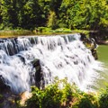 Shadows play on the falls.- Waterloo Falls