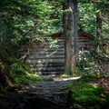 The Theron Dean Shelter as seen from the trail.- Mount Ellen via the Long Trail