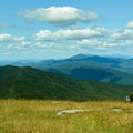View north to the peaks of Camel's Hump and Mount Mansfield beyond.- Mount Ellen via the Long Trail