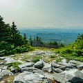 A view west toward the Adirondack Mountains and Lake Champlain.- Mount Ellen via the Long Trail