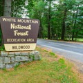 Campground entrance.- Wildwood Campground