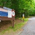 Information kiosk and fee station.- Wildwood Campground