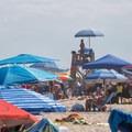 A crowded beach on a hot summer day.- Assateague Island National Seashore