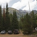 There is plenty of parking on the dirt road leading up to the trail.- Death Canyon to Patrol Cabin