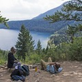 Phelps Lake Overlook.- Death Canyon to Patrol Cabin