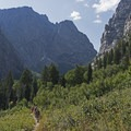 Heading into Death Canyon.- Death Canyon to Patrol Cabin