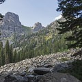 Albright Peak (10,551 ft).- Death Canyon to Patrol Cabin