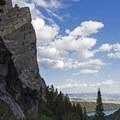 Soaring, sheer cliffs.- Death Canyon to Patrol Cabin