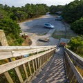 Stairs to the lookout point.- Cape Henlopen State Park