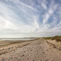 The beach along the Delaware Bay.- Cape Henlopen State Park