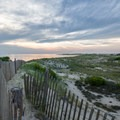The path leading to the bayside beach.- Cape Henlopen State Park
